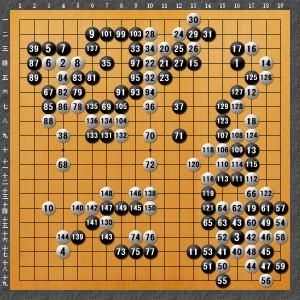 2020.12.06 igokuma岩田戦 150手完 白中押勝